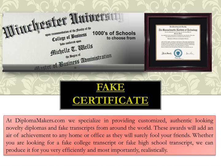 Ppt fake degree certificate powerpoint presentation id for Fake degree certificate download