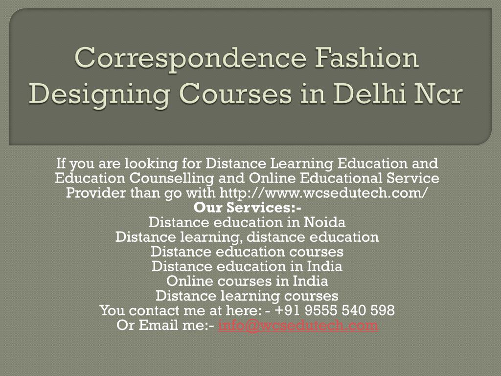 Ppt Correspondence Fashion Designing Courses In Delhi Ncr Powerpoint Presentation Id 7204808