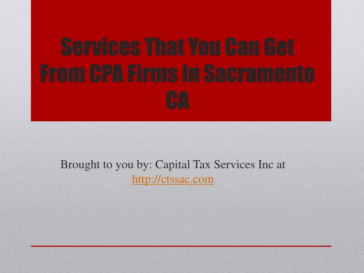 services that you can get from cpa firms in sacramento ca n.