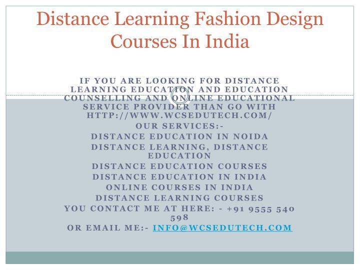 Ppt Distance Learning Fashion Design Courses In India Powerpoint Presentation Id 7204820
