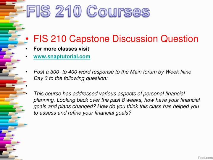 week 9 it capstone discussion question