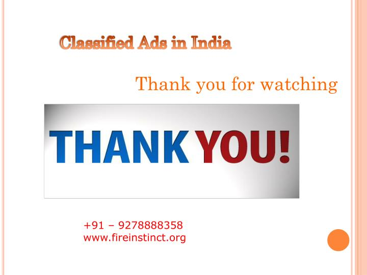 Classified Ads in India