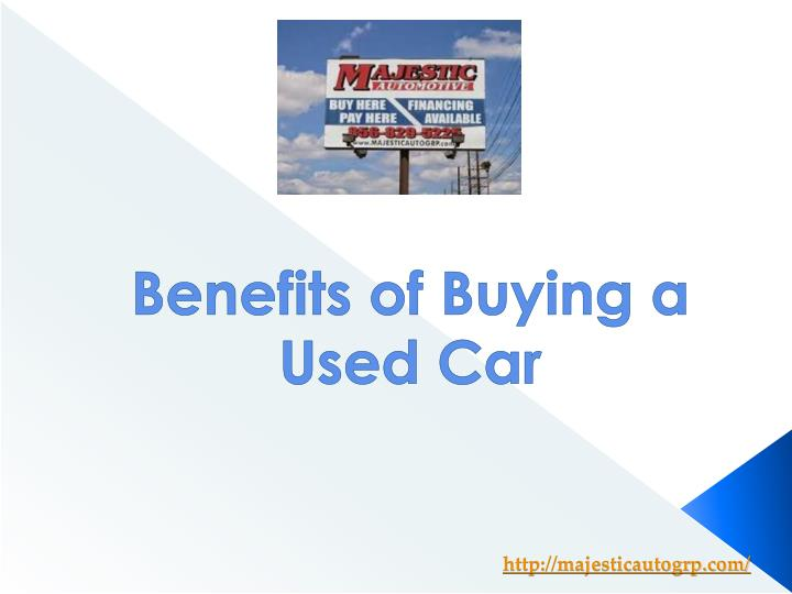 benefits of buying a used car n.