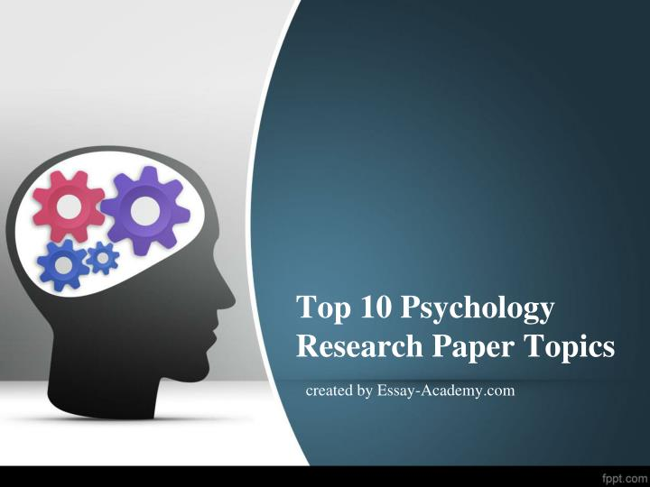 Research paper on psychology