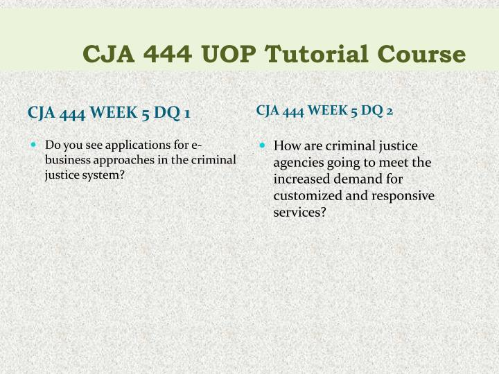 cja 444 week 5 communication process View notes - cja 444 week 5 individual assignment communication process paper from criminal j cja 394 at university of phoenix what are the strengths and weaknesses.