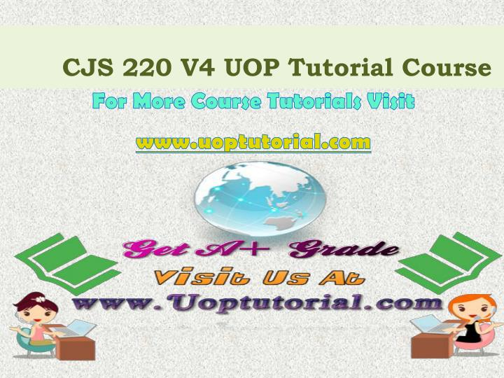 cjs 220 v4 uop tutorial course n.