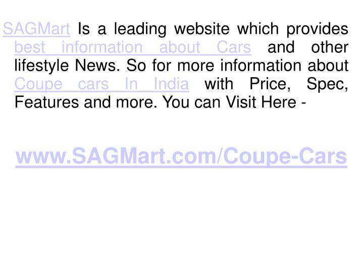 www.SAGMart.com/Coupe-Cars