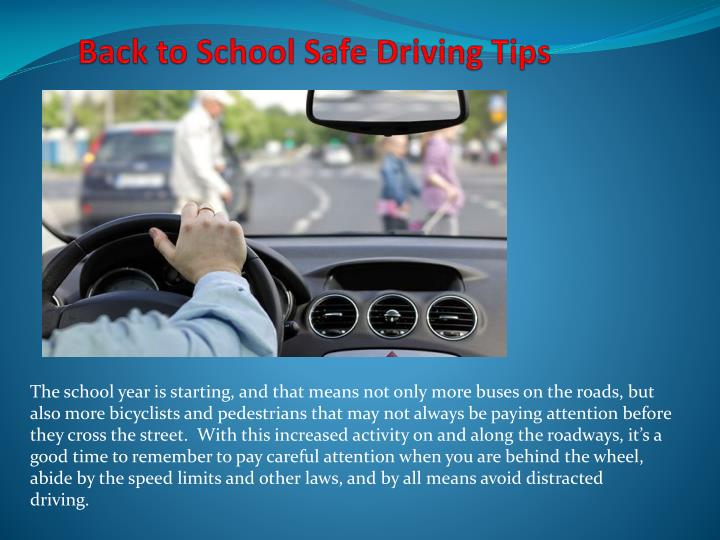 PPT - Back to School Safe Driving Tips PowerPoint