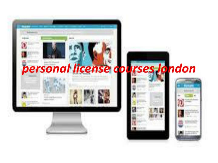 personal license courses london n.