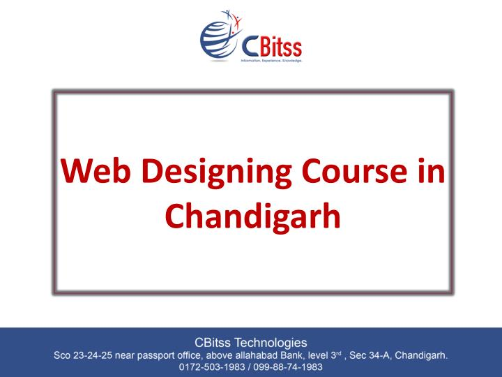 web designing course in chandigarh n.