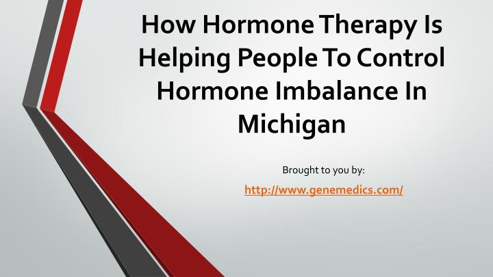 how hormone therapy is helping people to control hormone imbalance in michigan n.