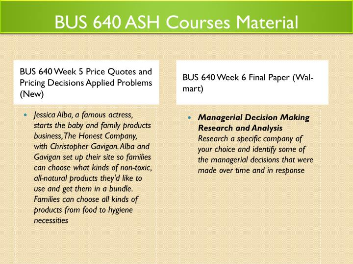 business 640 applied problems
