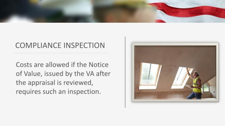 COMPLIANCE INSPECTION