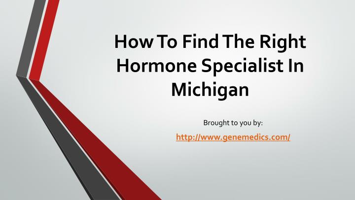how to find the right hormone specialist in michigan n.