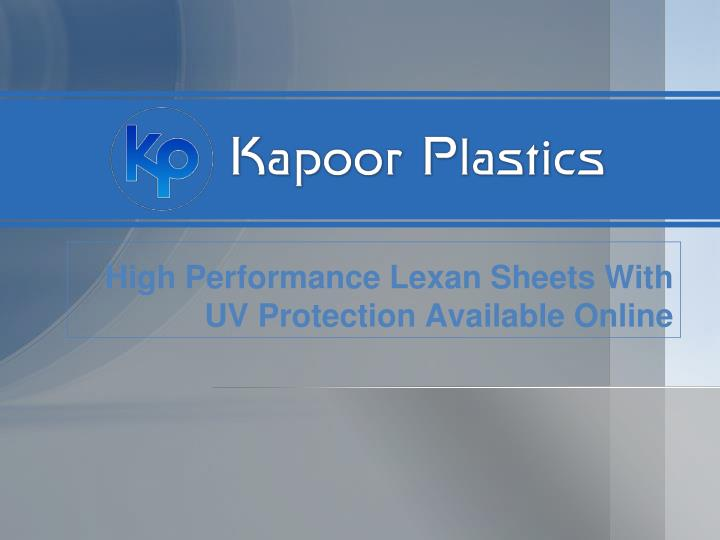high performance lexan sheets with uv protection available online n.