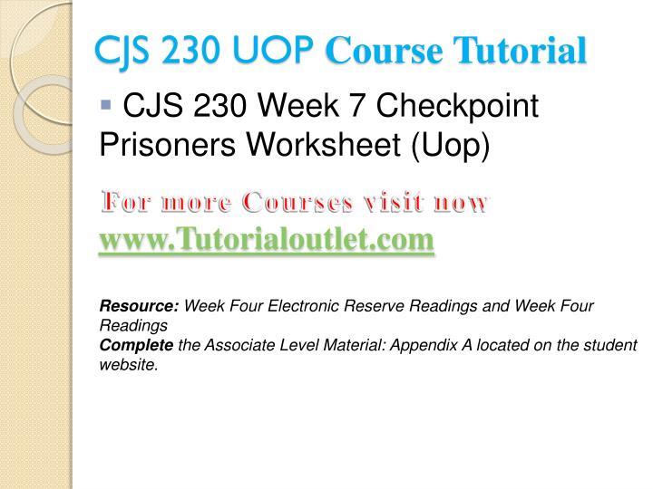 CJS 230 UOP Tutorial Courses