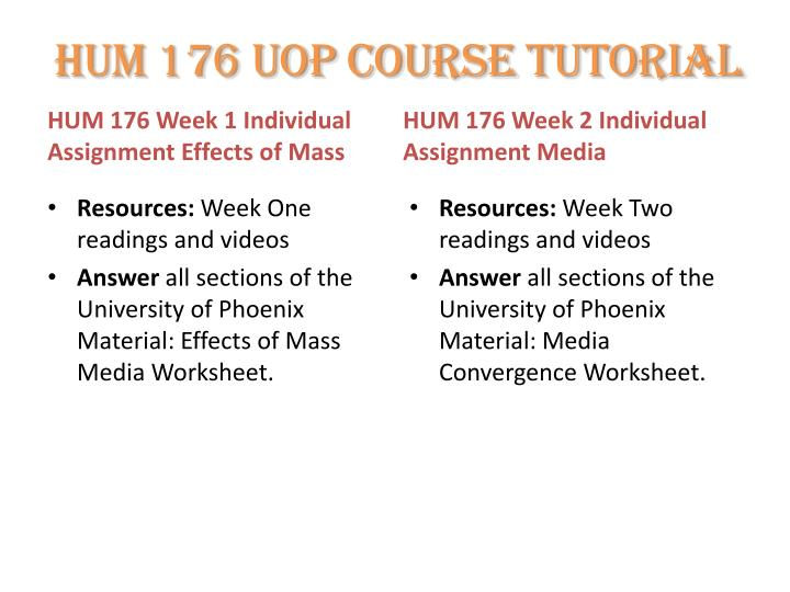 hum 176 week assignment Free essays on hum 176 week 9 assignment for students use our papers to help you with yours 1 - 30.