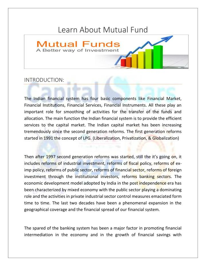 study on consumer awareness on mutual fund Related to mutual funds moreover, this study strategy matter in influencing mutual fund on consumer perceptions of mutual fund.