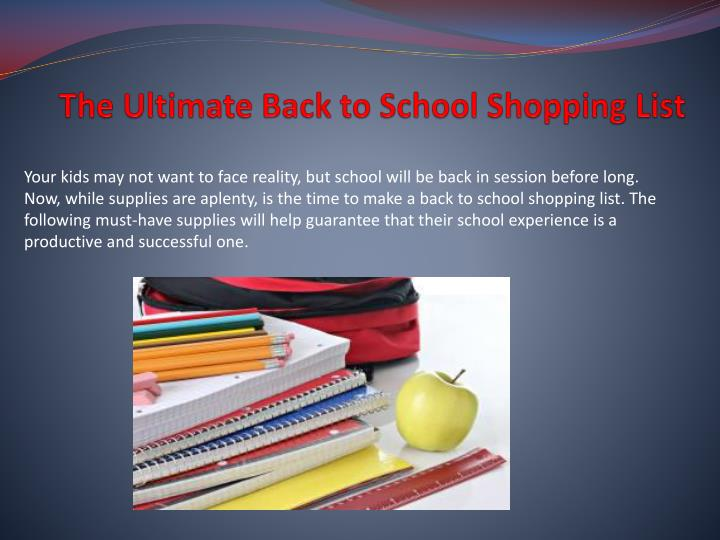 the ultimate back to school shopping list n.