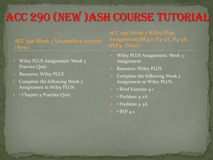 ACC 290 (NEW )ASH Course