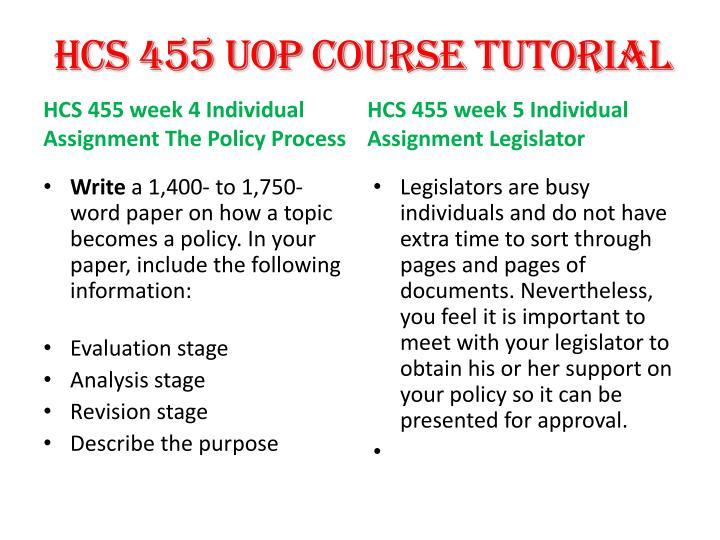 hcs 455 legislator handout paper Hcs 455 week 5 individual assignment legislator handout (2 papers) price: $500 hcs 455 week 2 team assignment historical perspective project.