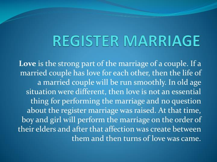 register marriage n.