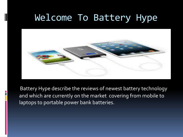 welcome to battery hype n.