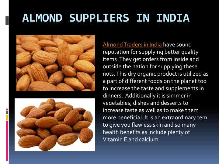 almond suppliers in india n.