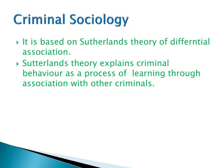 the relevance of sutherlands 1940 critique of criminology and sociology on crime today Introduction to criminology dr ayman elzeiny ( egypt) a-why criminology(the importance of criminology) you may ask why do people get paid to study crime and criminal behavior , and why do people engage in this area of study.