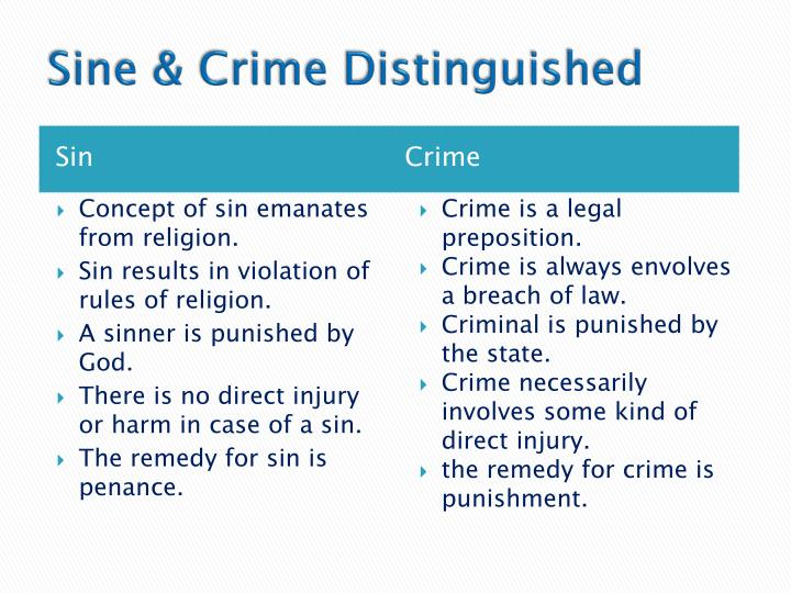 tort and crime distinguished