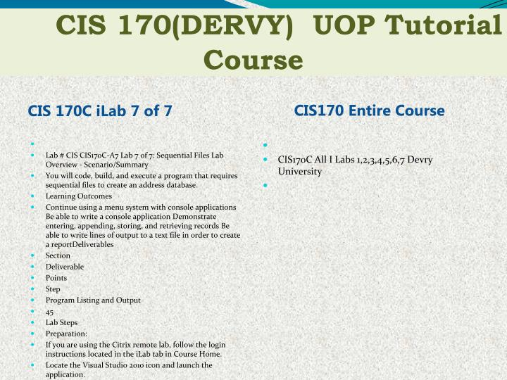 cis 170 Cis 170 week 5 midterm exam $4000 add to cart data alteration and denial directly targets the computer by attacking the useful information stored or processed by.