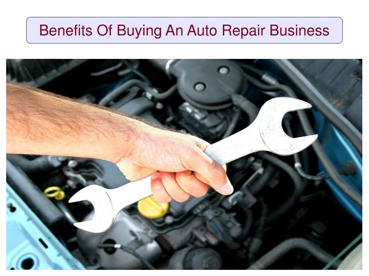 benefits of buying an auto repair business n.