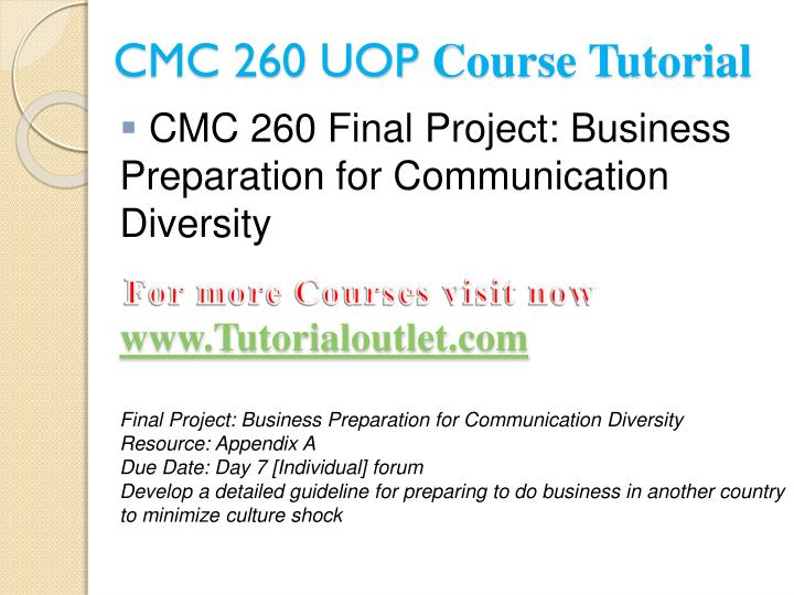 cmc 240 final project Read this essay on cmc 240 learning consultant / tutorialrankcom come browse our large digital warehouse of free sample essays cmc 240 final project.
