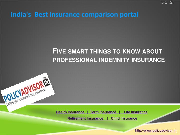 five smart things to know about professional indemnity insurance n.