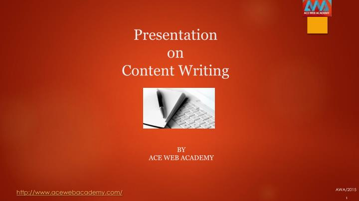presentation on content writing n.