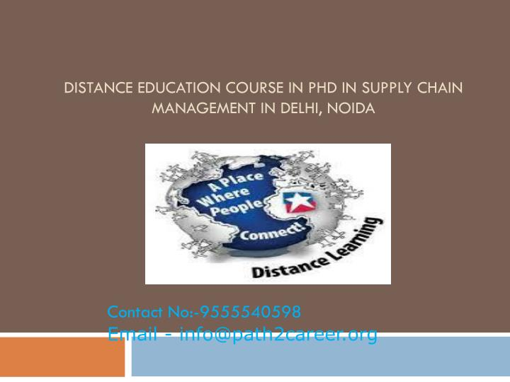 distance education course in phd in supply chain management in delhi noida n.