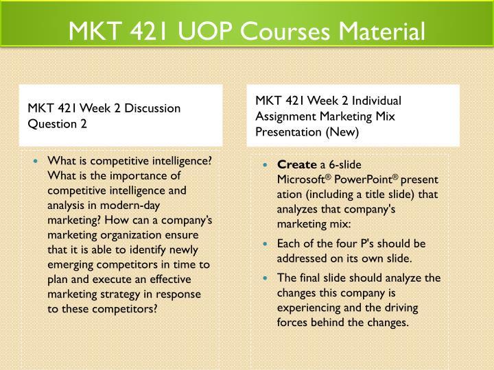 mkt 421 week 2 individual assignment