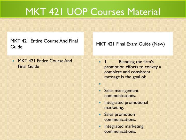 marketing mix mkt 421 uop essay