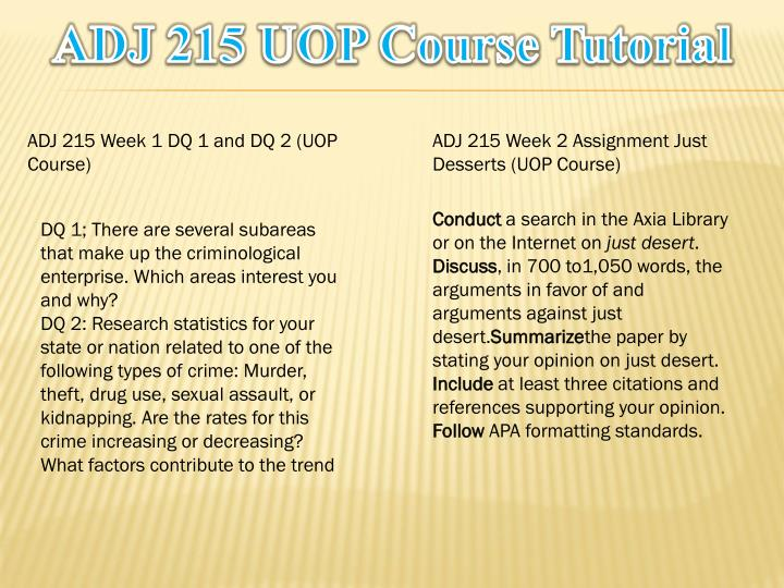 Adj 215 uop course tutorial1
