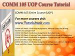 comm 105 uopcourse tutorial