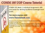 comm 105 uopcourse tutorial1