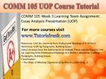 comm 105 uopcourse tutorial3