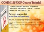 comm 105 uopcourse tutorial4