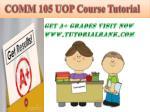 comm 105 uopcourse tutorial8