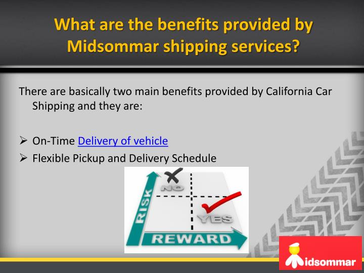 What are the benefits provided by Midsommar shipping services?