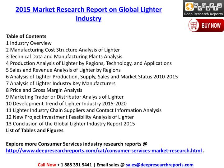 2015 Market Research Report on Global Lighter Industry
