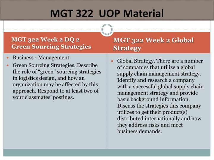 MGT 322