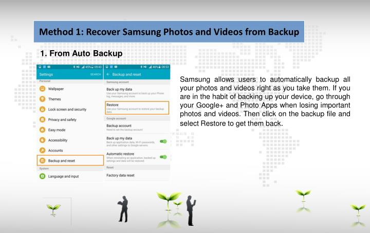 Method 1: Recover Samsung Photos and Videos from Backup