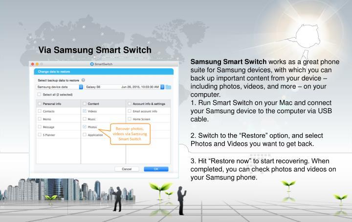 Via Samsung Smart Switch
