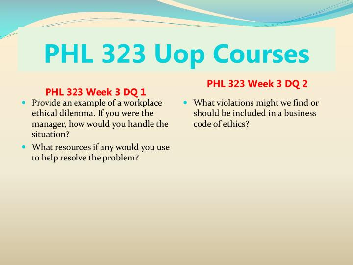personal ethics development phl 323 Phl 323 week 1 individual assignment personal ethicsdevelopment paper search for: phl 323 week 1 individual assignment personal ethics development paper.